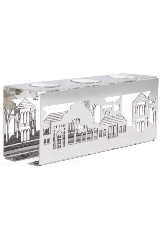 Village Triple Candle Holder