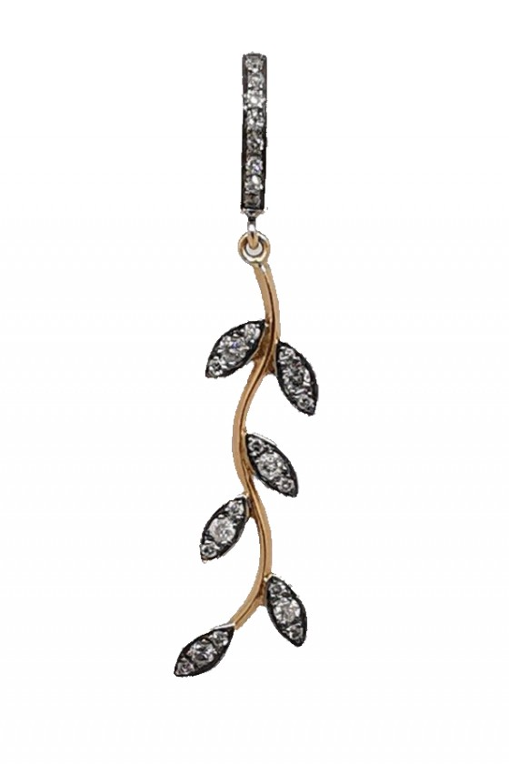 """Leaves Créole"" Single Earring"