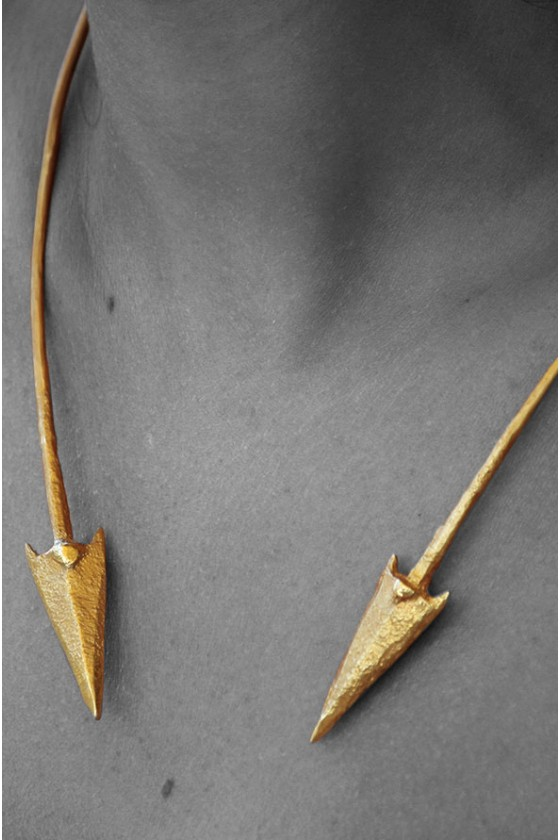 Two Arrowheads Necklace