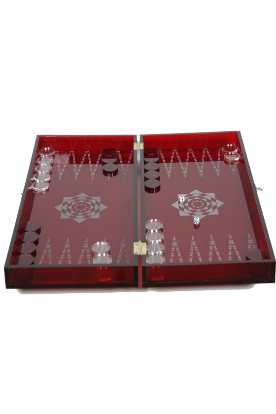 Backgammon dice Plexiglas