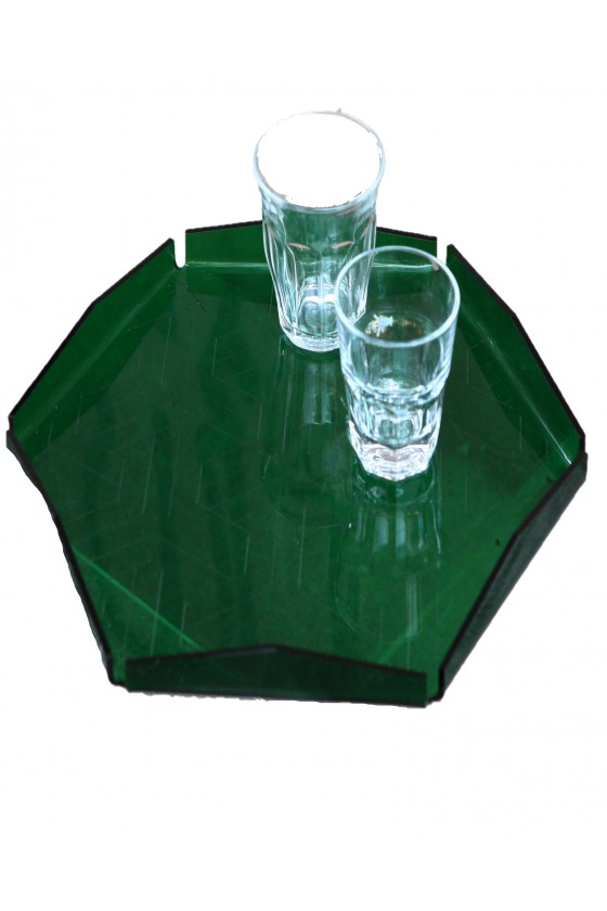Tray Hexagon Plexiglas with...