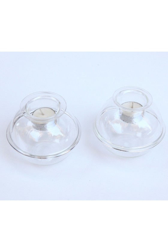 Candlesticks Round Glass