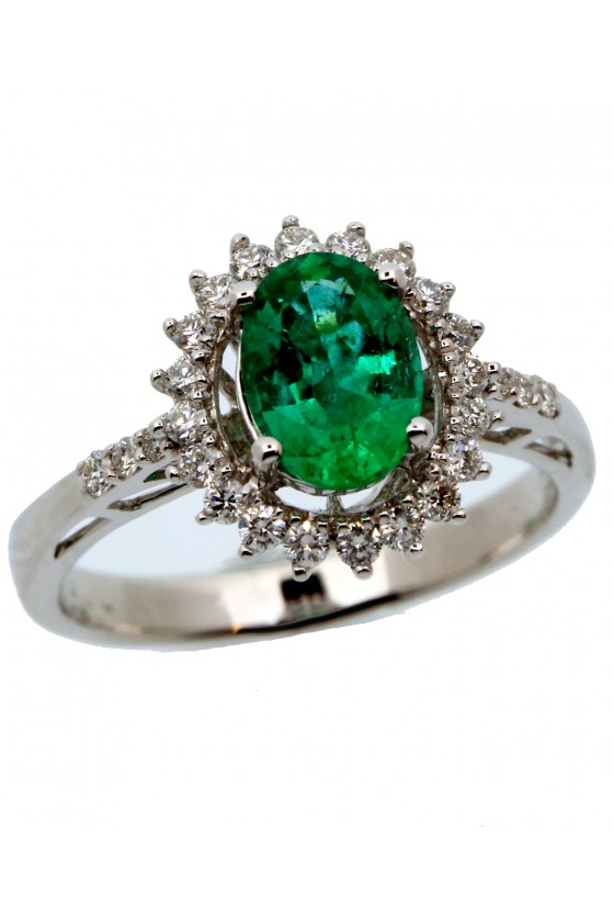 Lady Di Emerald Ring
