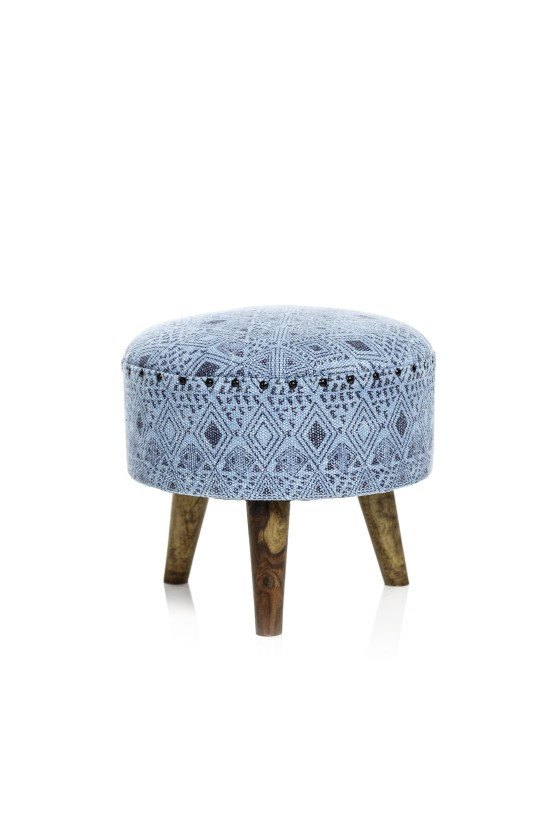 Turquoise Pouf