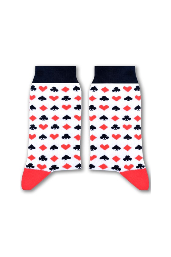 Sikasok Cards (White) Socks