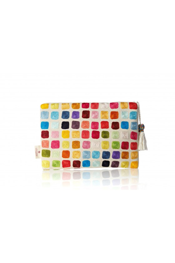 Colors of Life Pouch - Squares