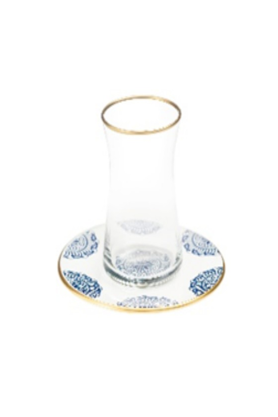 White & Blue Tea Cups - Set...