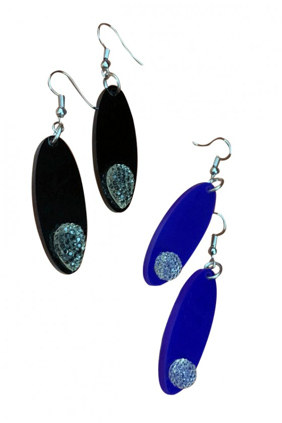 Oval plexi earrings