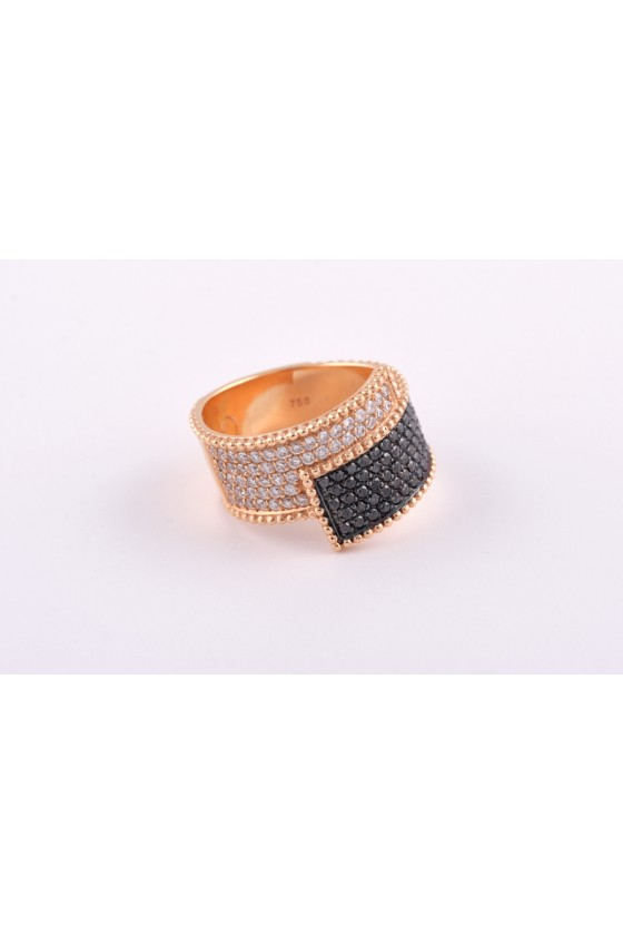 Ring 18k gold. White &...