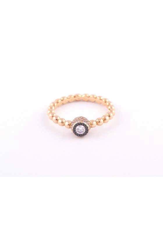 Ring 18k gold. Light pink &...