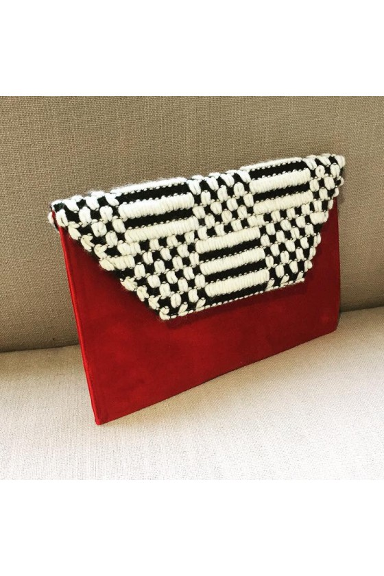 Slim Clutch - Red Velvet