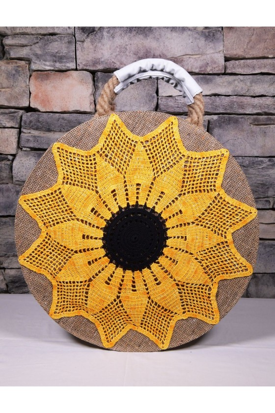 Beach Bag with Sunflower...