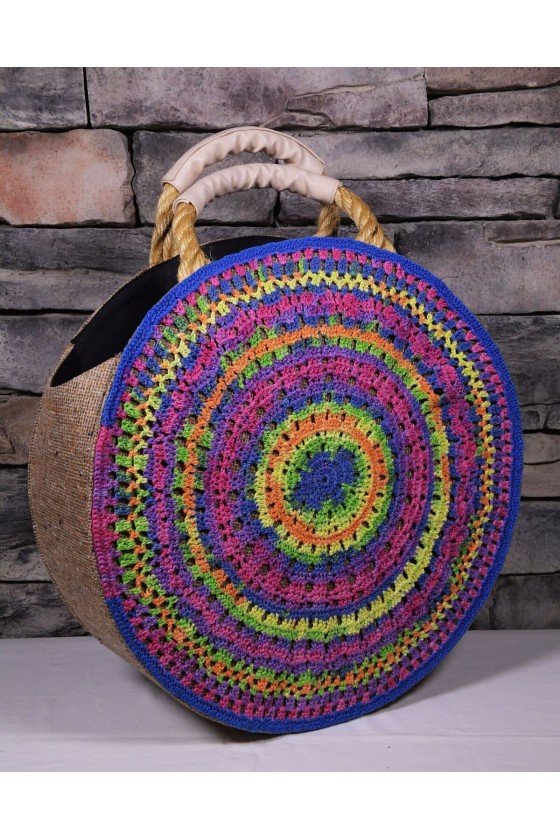 Round Beach Bag with...
