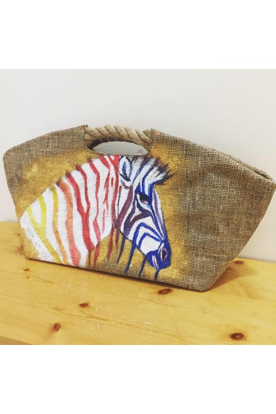Beach Bag with Handpainted...