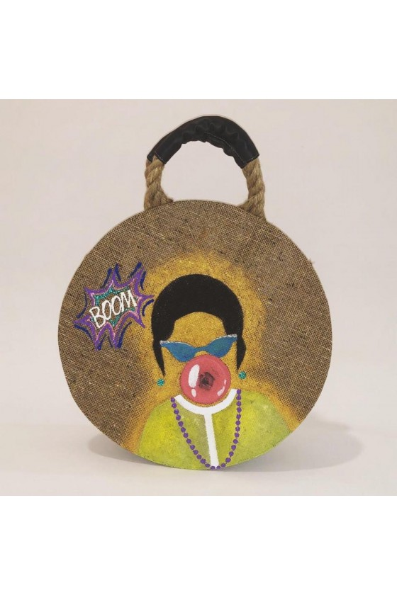 Beach Bag with Hand Painted...