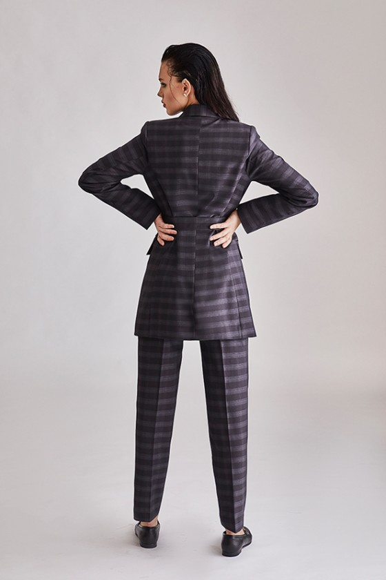 Double breasted Pin stripe grey suit