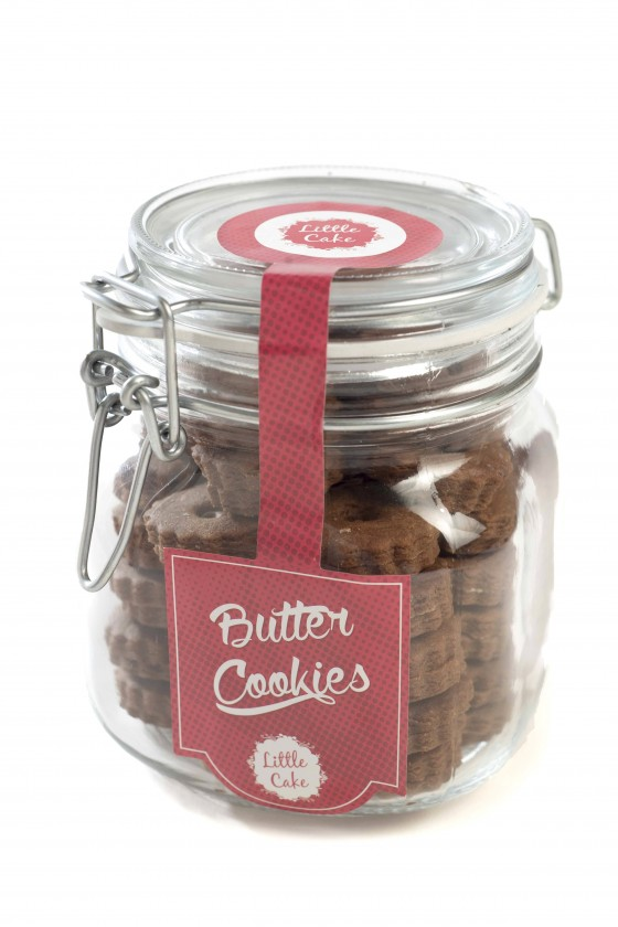 Butter Cookies Chocolate Jar