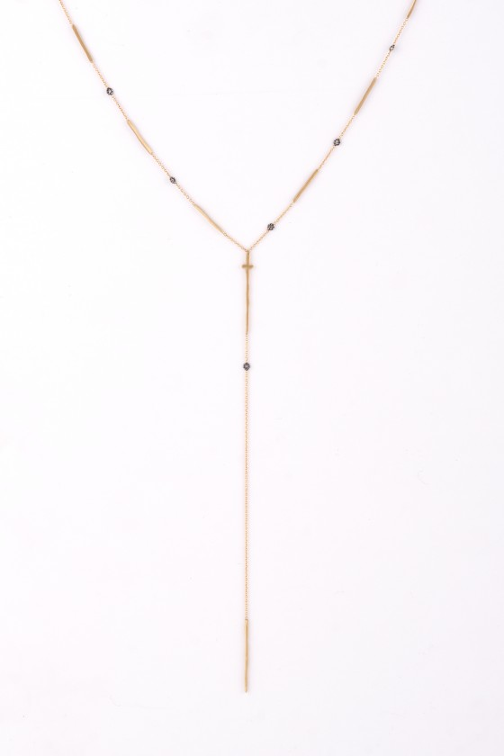 Pendant 18k gold with Grey...