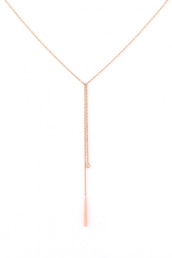 Pendant 18k gold with White...