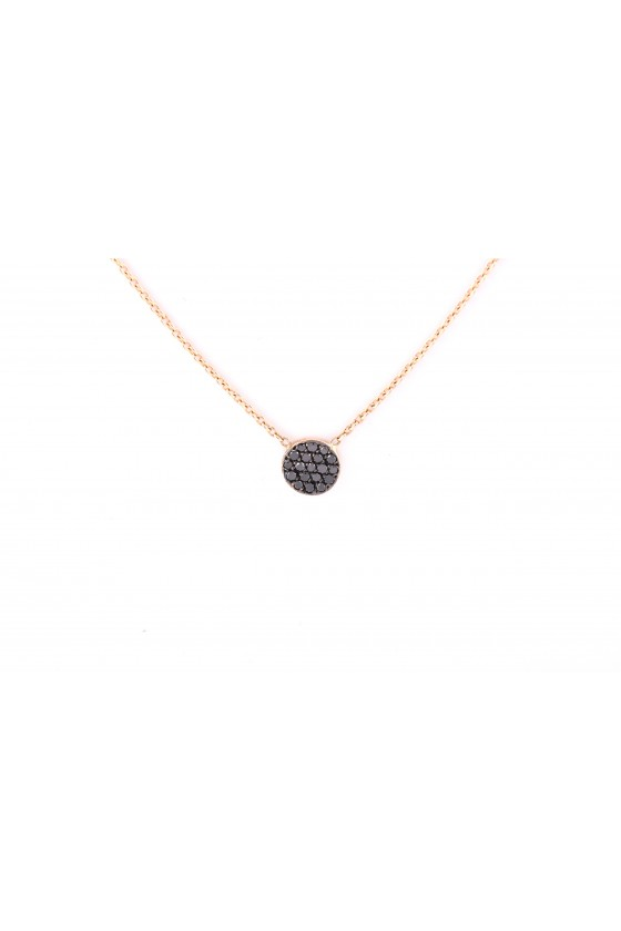 Pendant 18k gold with Black...