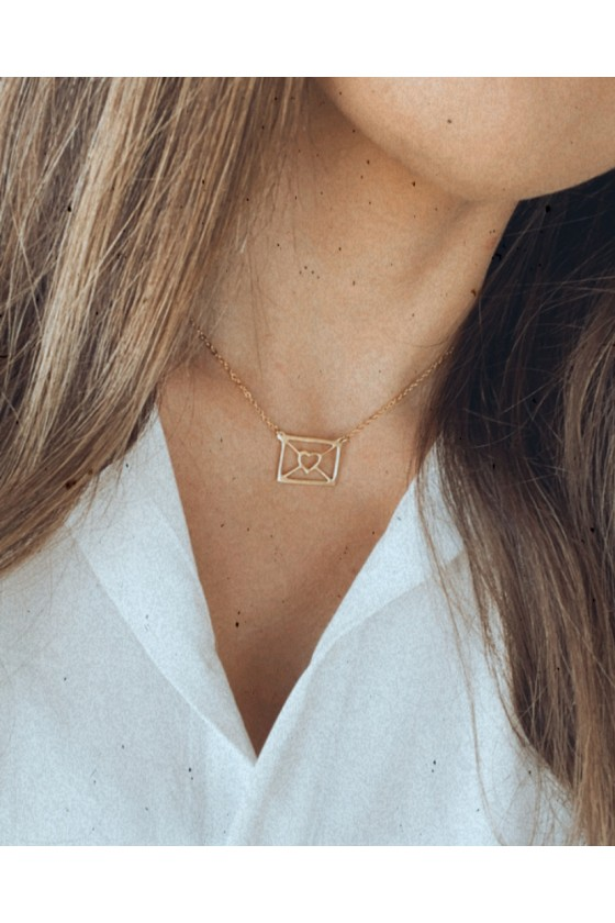 Mail necklace