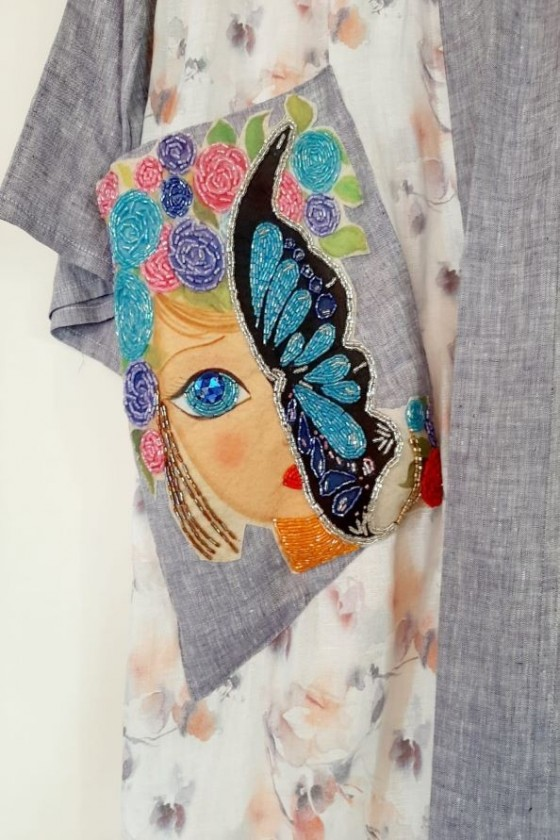 The Butterfly Face Kaftan