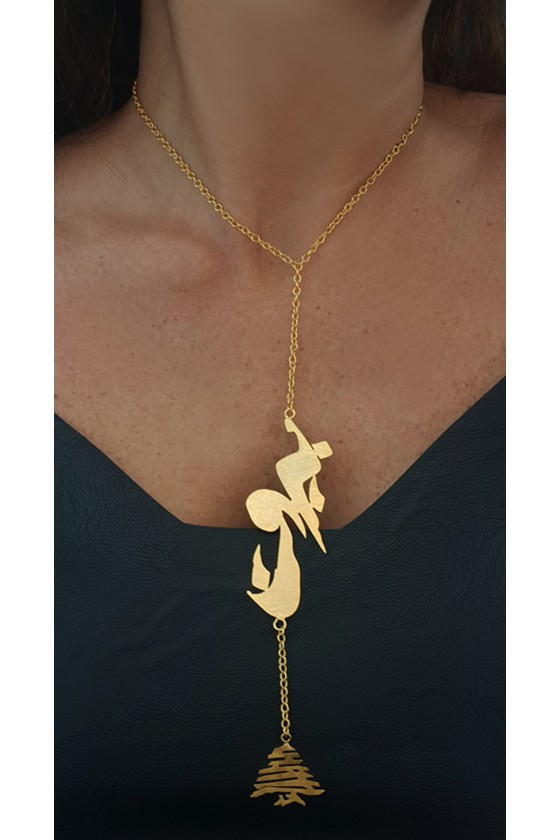 Duo Necklace Beirut with Cedar