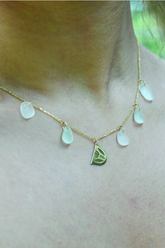 Gold 18K necklace with...