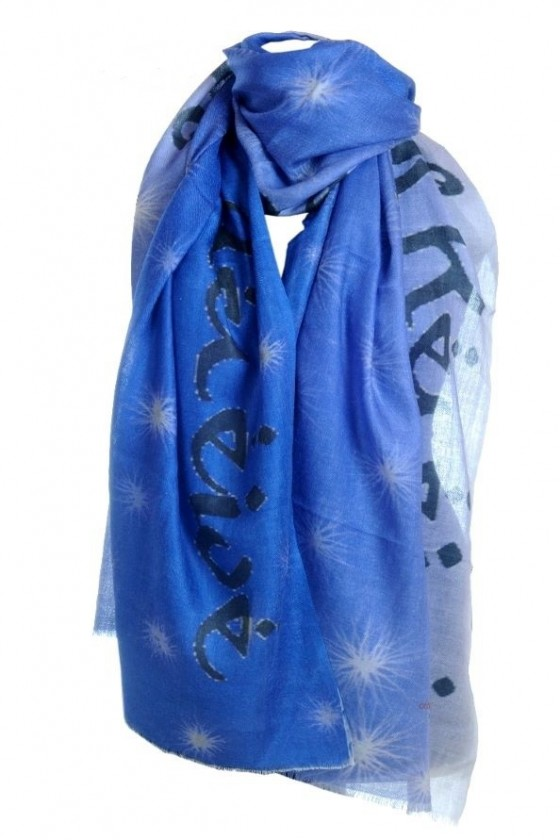 Believe Ask Receive  scarf with a message