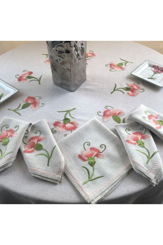 Square Embroidered Tablecloth