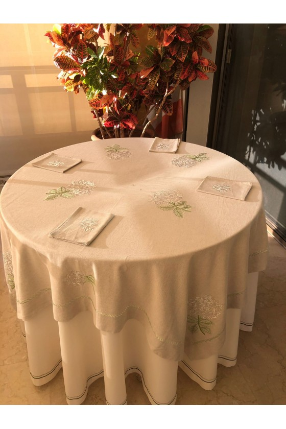 Square Embroidered Table cloth