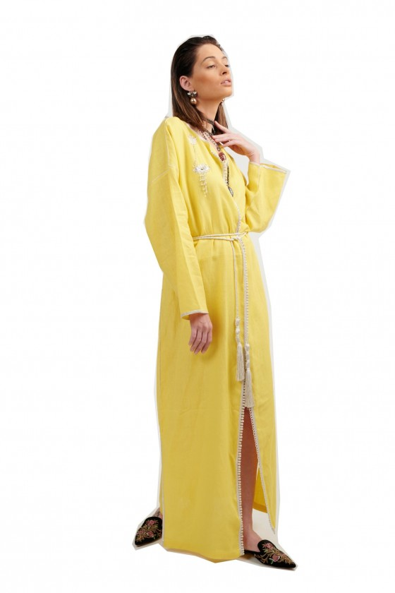 Open moroccan kaftan with...